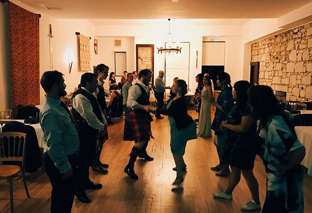 Another ceilidh with an international feel this weekend! Thanks for having us, Andrew and Kaew! Blog link in bio.