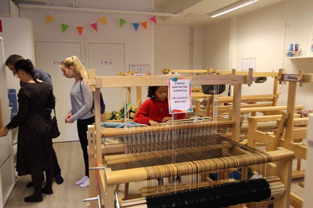 Rag rug weaving in Helsinki