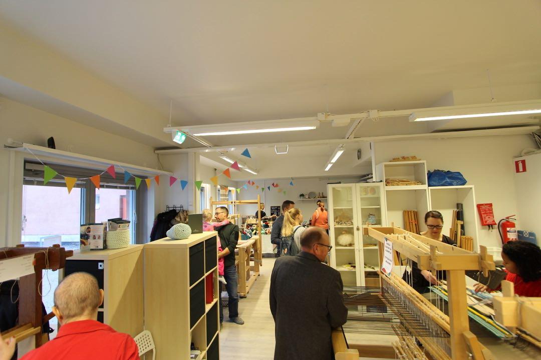 Knitting and weaving studio in Helsinki