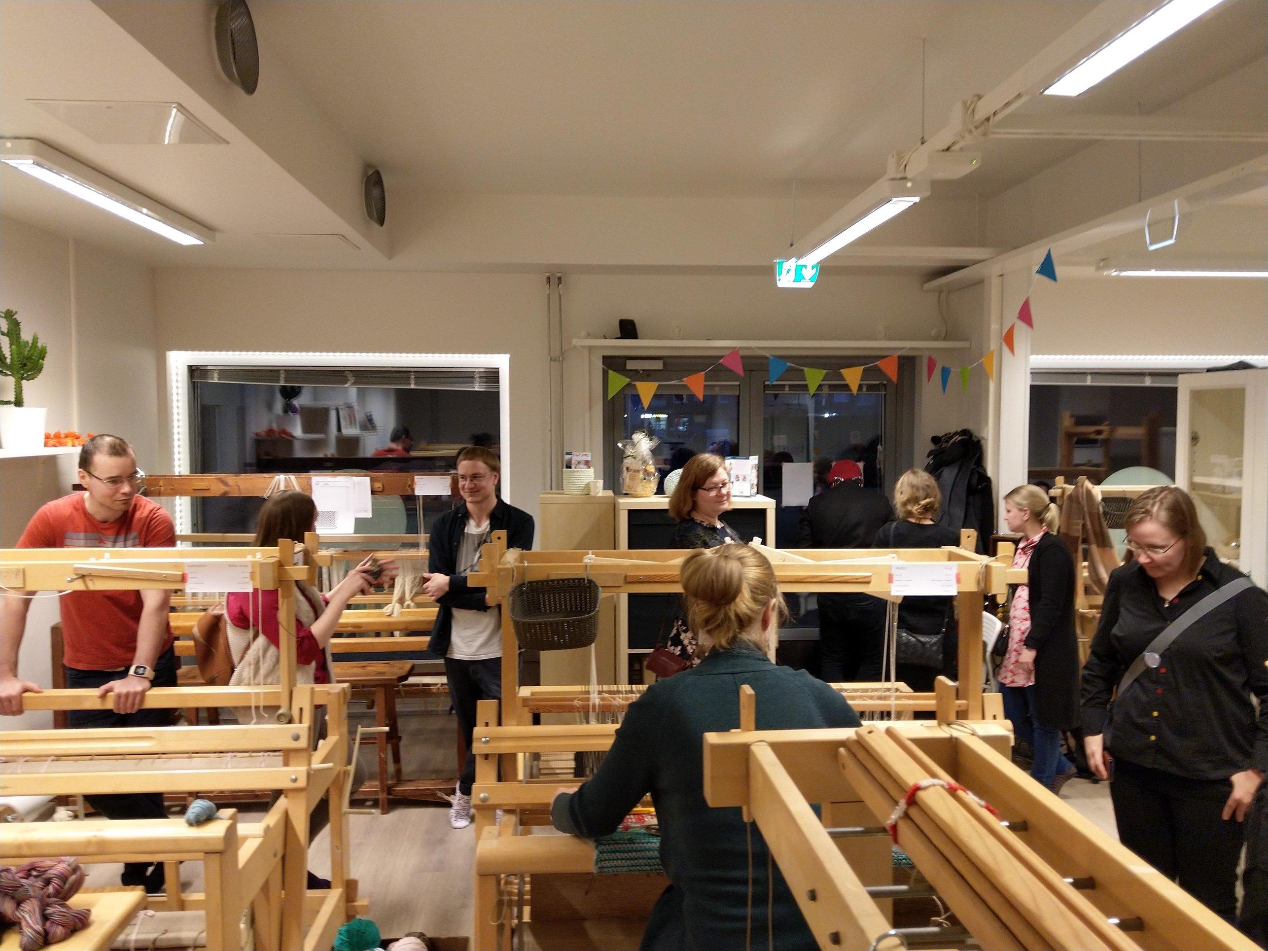 Weaving party in Helsinki