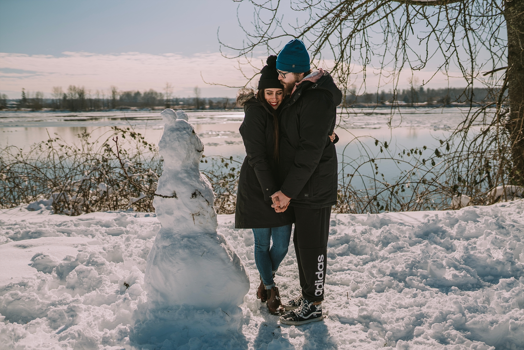 pitt meadows snow day photoshoot
