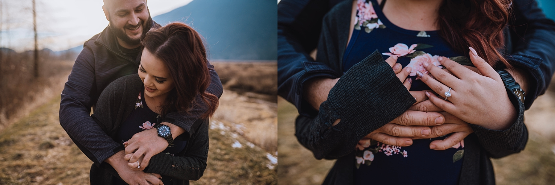 pitt lake engagement session