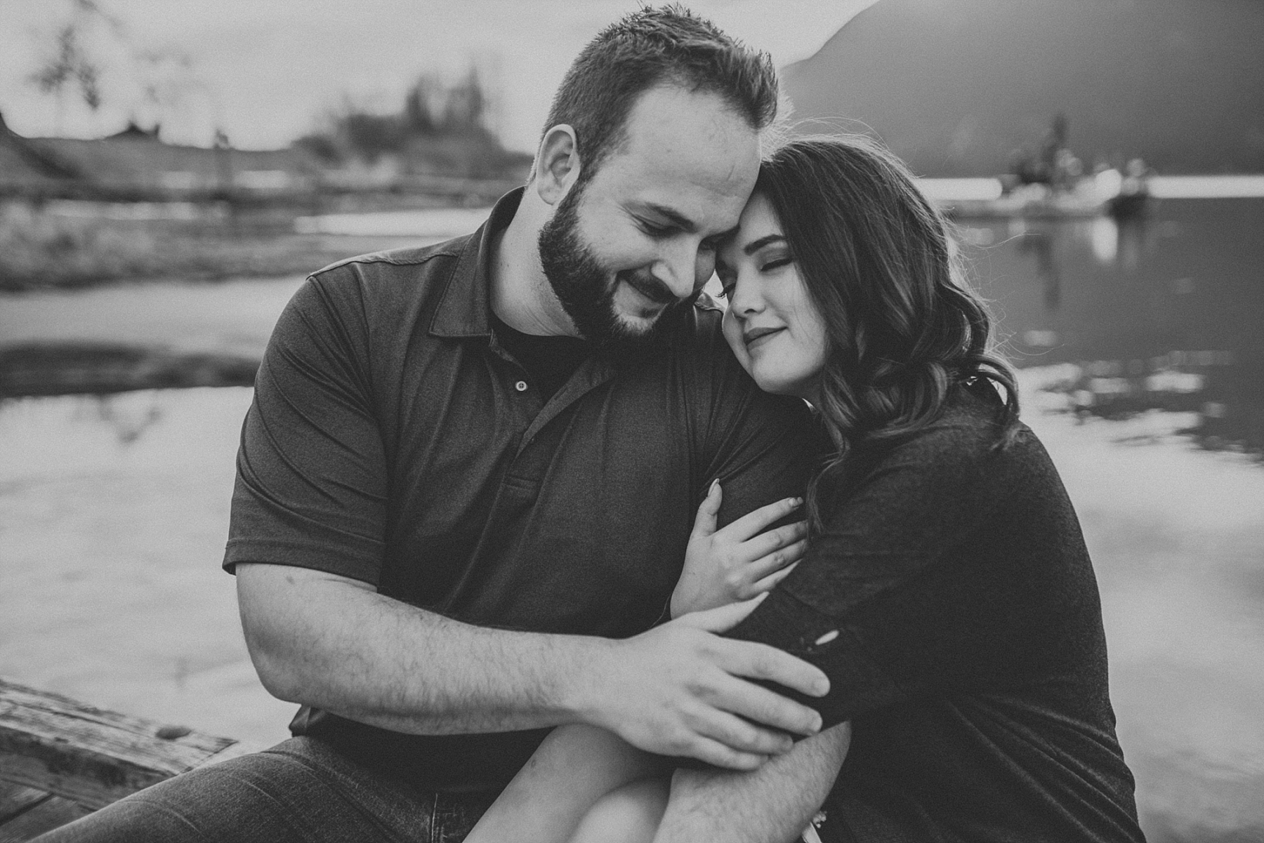 springtime engagement photos near vancouver