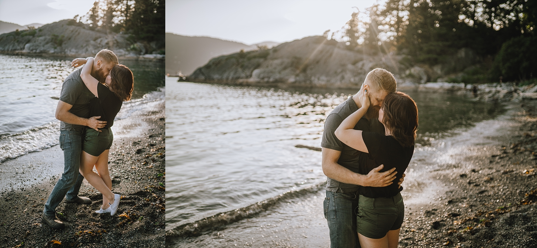 whytecliff park engagement photoshoot