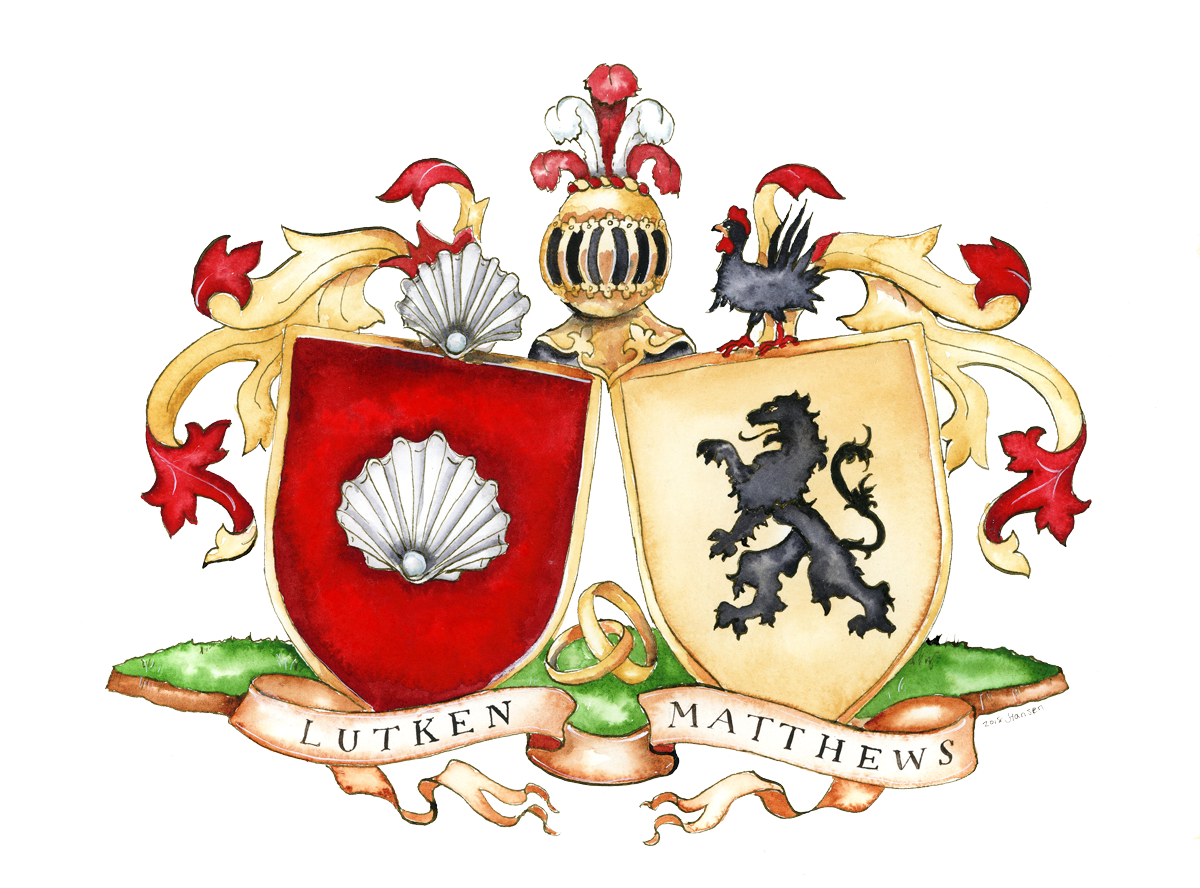 A wedding crest I created in 2018.