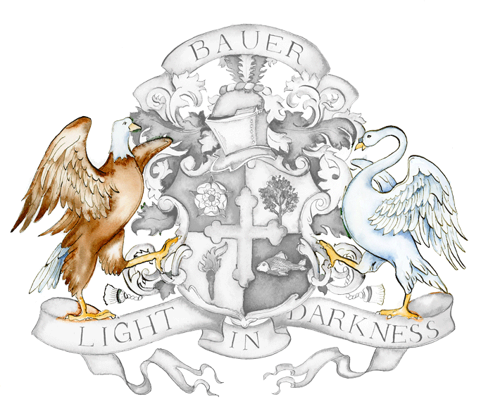 An eagle and swan as supporters.