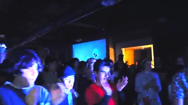 Still from a video of the band Jinx playing at Color Theory Club I by Sean
