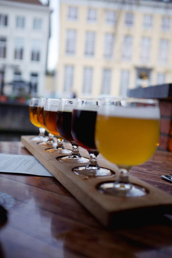 Drinking Beer in Bruges Belgium - Earthtones Travel + Design Blog - Roo Bea Design Co