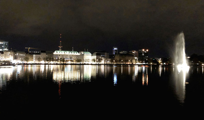 Hamburg Germany at Night | Earthtones Travel + Design Blog | Roo Bea Design Co