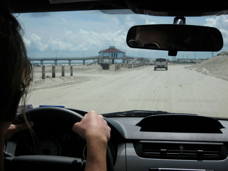 Driving on Aransas Beach | Earthtones Travel + Design Blog | Roo Bea Design Co