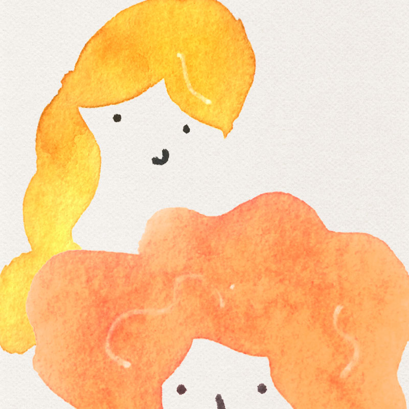 Girl Hairstyles Watercolor Illustration | Earthtones Travel + Design Blog | Roo Bea Design Co
