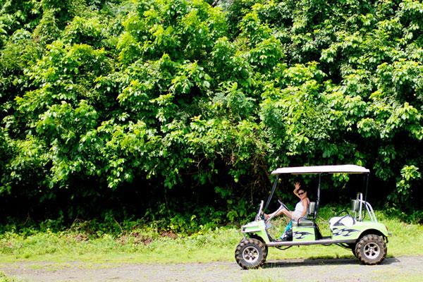 Golf Cart Rental - Big Corn Island, Nicaragua | Earthtones Travel + Design Blog | Roo Bea Design Co