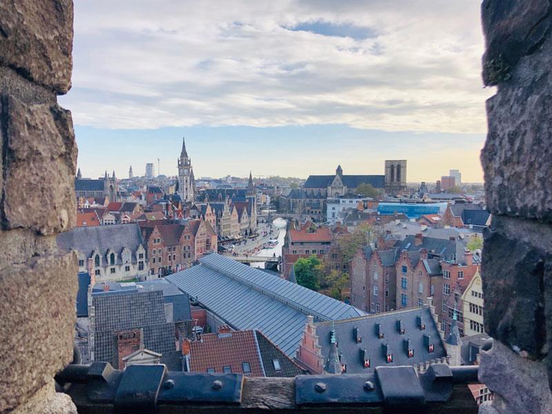 View from Gravensteen Castle | Earthtones Travel + Design Blog | Roo Bea Design Co