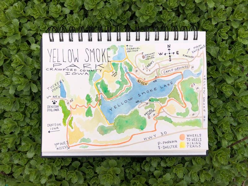 Travel Iowa - Yellow Smoke Park in Denison, Iowa - Crawford County | Earthtones Travel + Design Blog | Roo Bea Design Co.