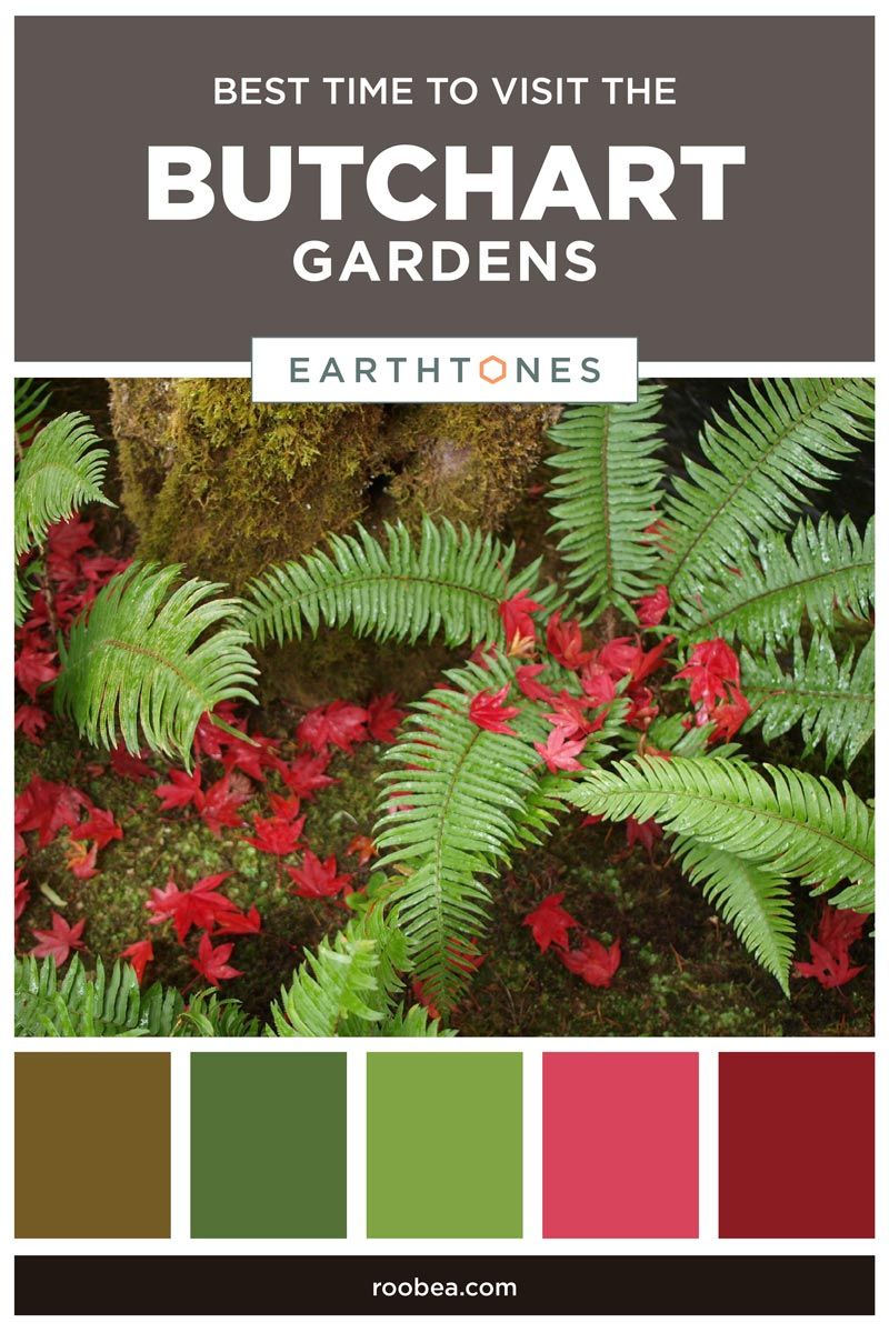 Best Time To Visit The Butchart Gardens in Victoria, British Columbia | Earthtones Travel + Design Blog | Roo Bea Design Co