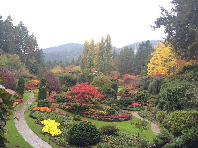 The Sunken Garden | The Butchart Gardens in Victoria, British Columbia | Earthtones Travel + Design Blog | Roo Bea Design Co