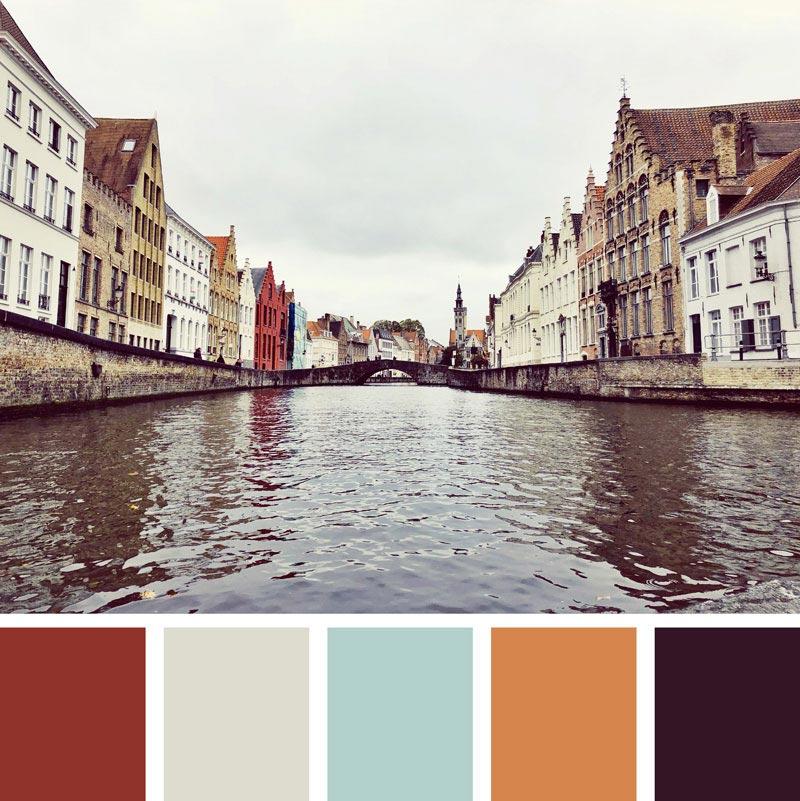 Color Palette: Natural, Neutral, Autumn, Warm, Boho, Spice & Fall | Bruges, Belgium | Earthtones Travel + Design Blog | Roo Bea Design Co.