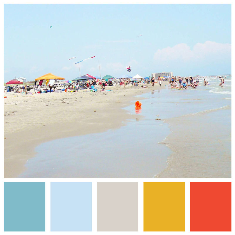 Color Palette: Beach, Bright, Ocean, Fun, Sunrise, Cool, Summer & Modern | Port Aransas, Texas | Earthtones Travel + Design Blog | Roo Bea Design Co