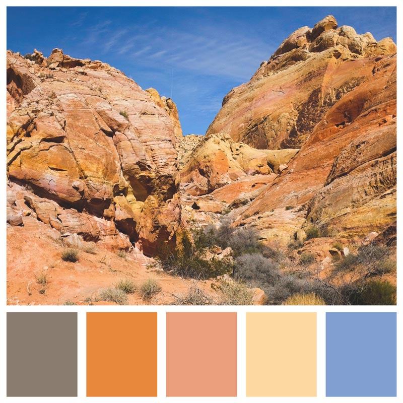 Color Palette: Soft, Pastel, Warm, Fire, Rust, Terracotta, Natural, Earthy, Sky | Valley of Fire State Park - Nevada | Earthtones Travel + Design Blog | Roo Bea Design Co.