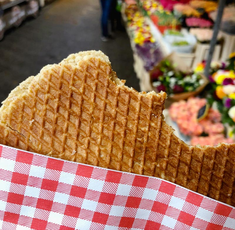 Amsterdam Foods to Try - Stroopwaffle | Earthtones Travel + Design Blog | Roo Bea Design Co