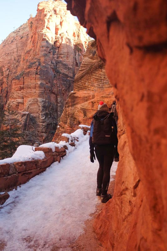 Hiking Angels Landing During the Winter   Earthtones Travel + Design Blog   Roo Bea Design Co.