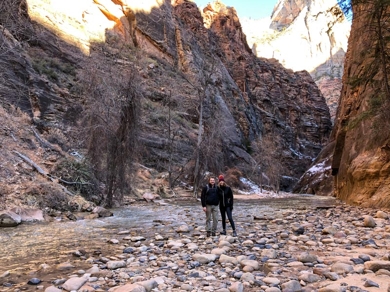 Hiking The Narrows at Zion National Park | Earthtones Travel + Design Blog | Roo Bea Design Co.