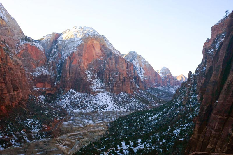 Winter at Zion National Park | Earthtones Travel + Design Blog | Roo Bea Design Co.