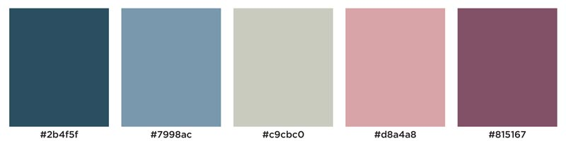 Color Palette: Cold, Feminine, Winter, Mauve, Cool, Icy, Soft, Warm, Berry | Earthtones Travel + Design Blog | Roo Bea Design Co.
