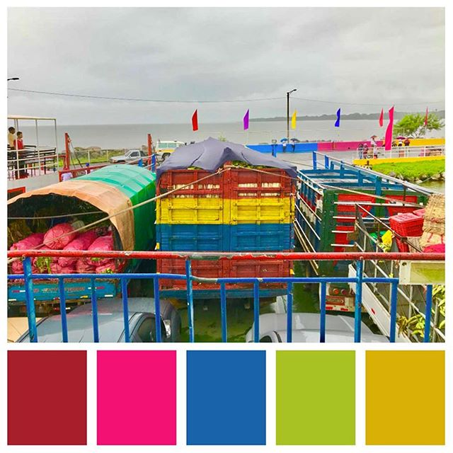 The colors of Ometepe Island 🎨 What a vibrant island! . . This week was all about Isla de Ometepe in Nicaragua! Check out the blog to learn more (link in bio) . . . #ometepe #ometepeisland #ometepenicaragua #ferry #ferryboat #ferryboats #fruit #exportimport #shipping #color #colorful #colors #colorpalette #colorscheme #colorinspiration #colorventures #colorhunters #colorful #colorfuldestinations #designinspiration #brightcolors #islandcolors #adventure #adventurer #nicaraguatravel #travelinspiration #coloryourworld