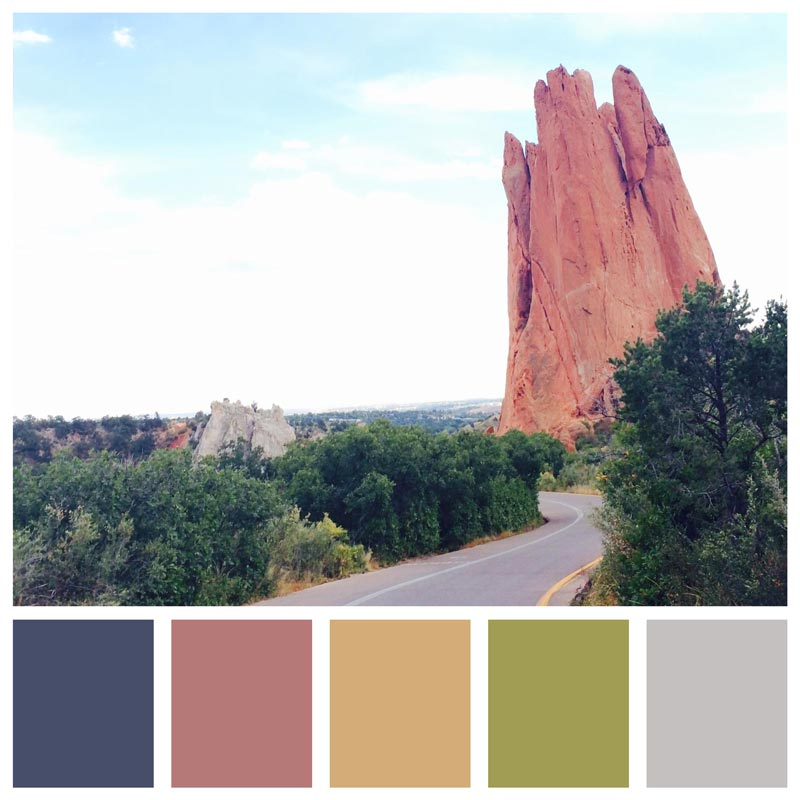 Color Palette: Soft, Bold, Dusty, Natural, Desert, Mauve, Calm, Peaceful | Sightseeing: Garden of the Gods in Colorado Springs, Colorado | Earthtones Travel + Design Blog | Roo Bea Design Co.