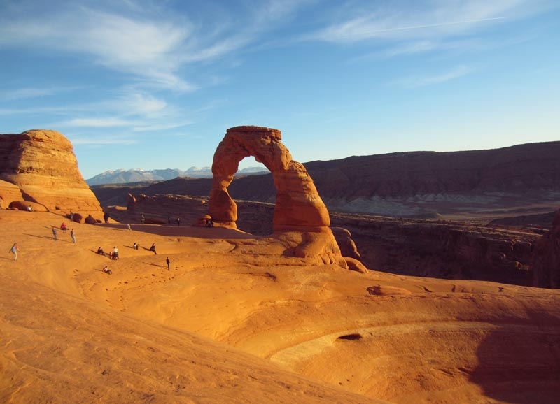 Sunset at Delicate Arch - Arches National Park | Earthtones Travel + Design Blog | Roo Bea Design Co.