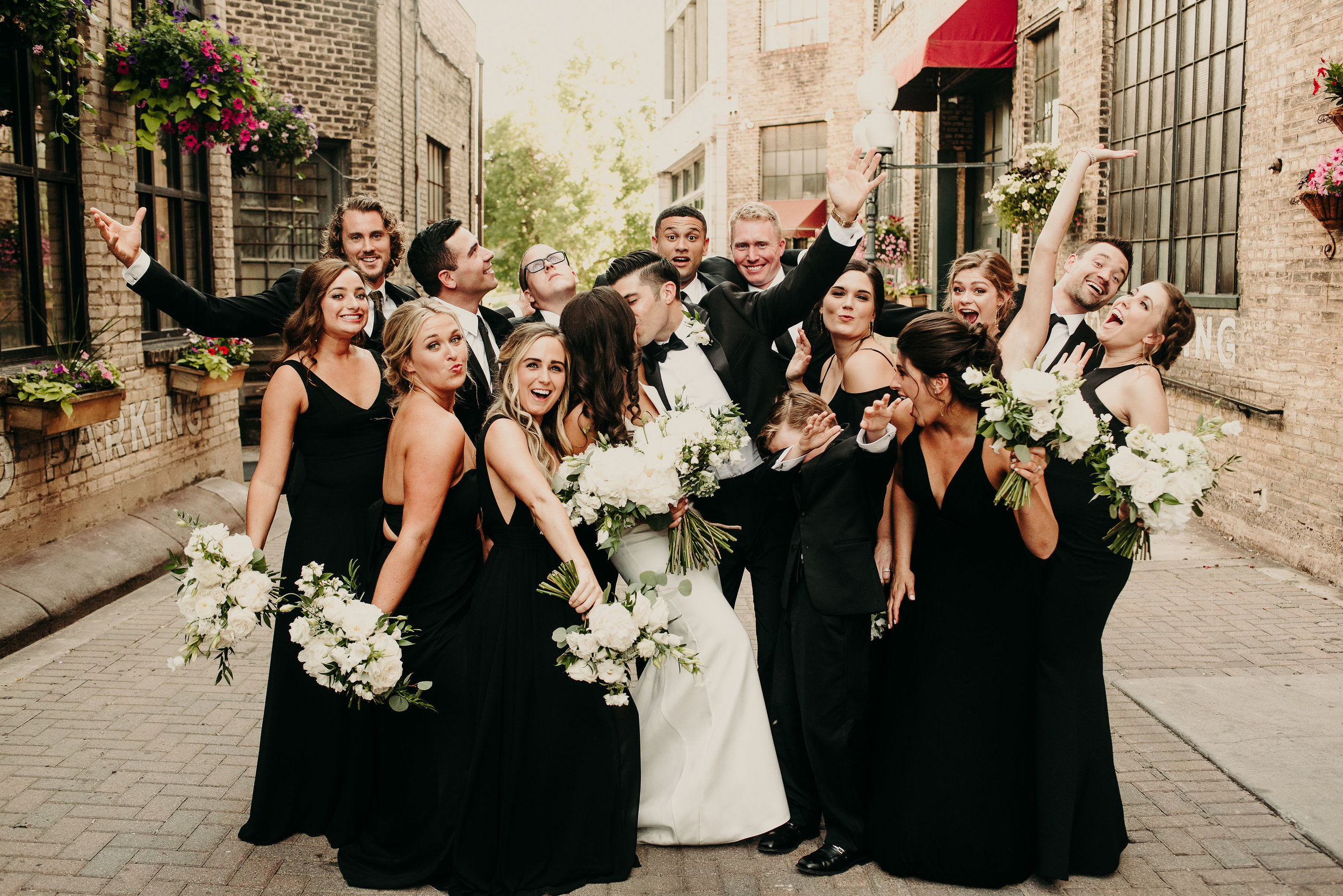 Time to celebrate the bride & groom!   Photo / / Ali Leigh Photo