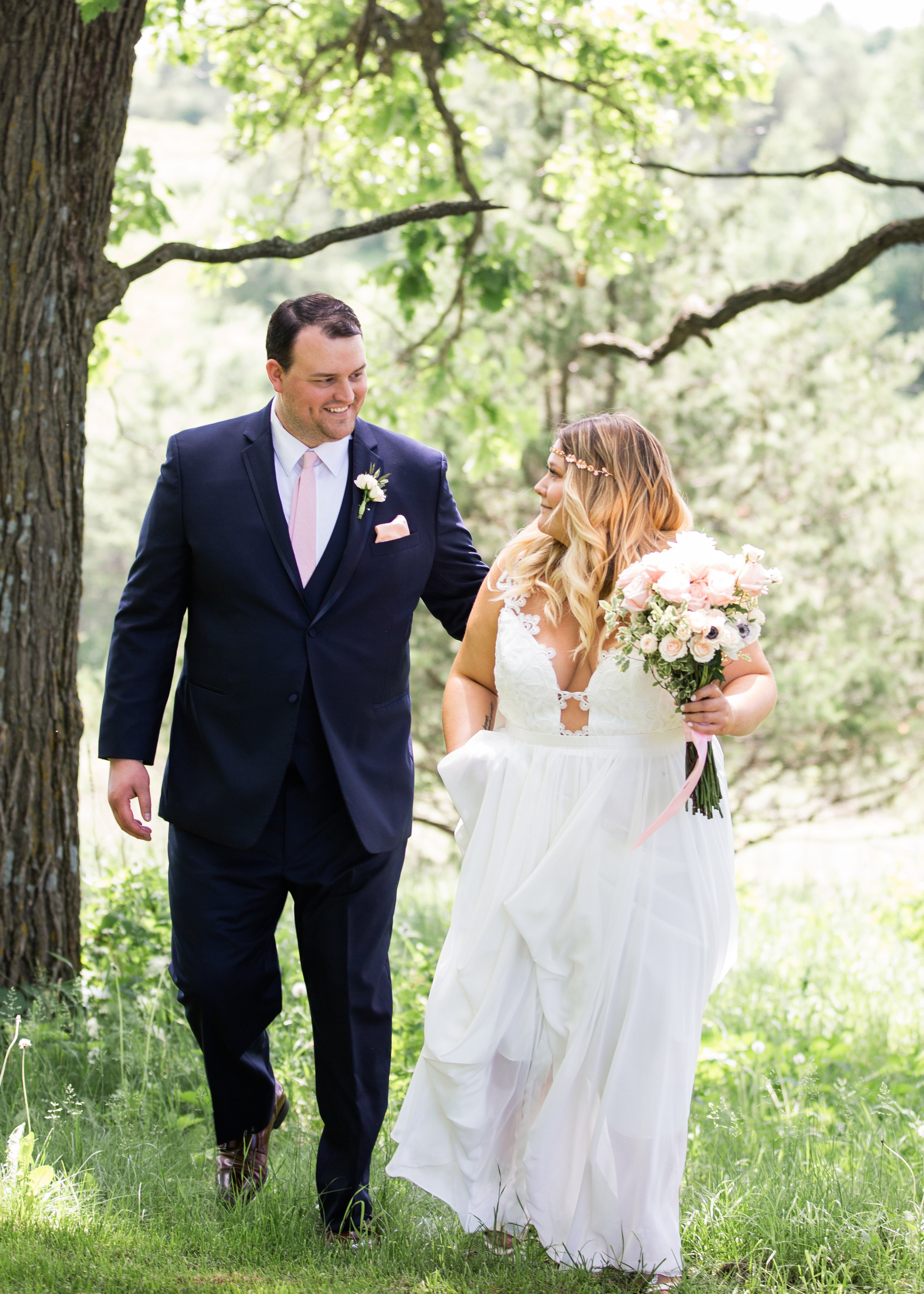 """Photo / /  Carly Mac Photography   Dress / /  Truvelle  """"Julie"""",  a&bé bridal shop ,  a&bé mpls   This is me on my wedding day! I loved my gown so much and still do looking back at all of our photos."""