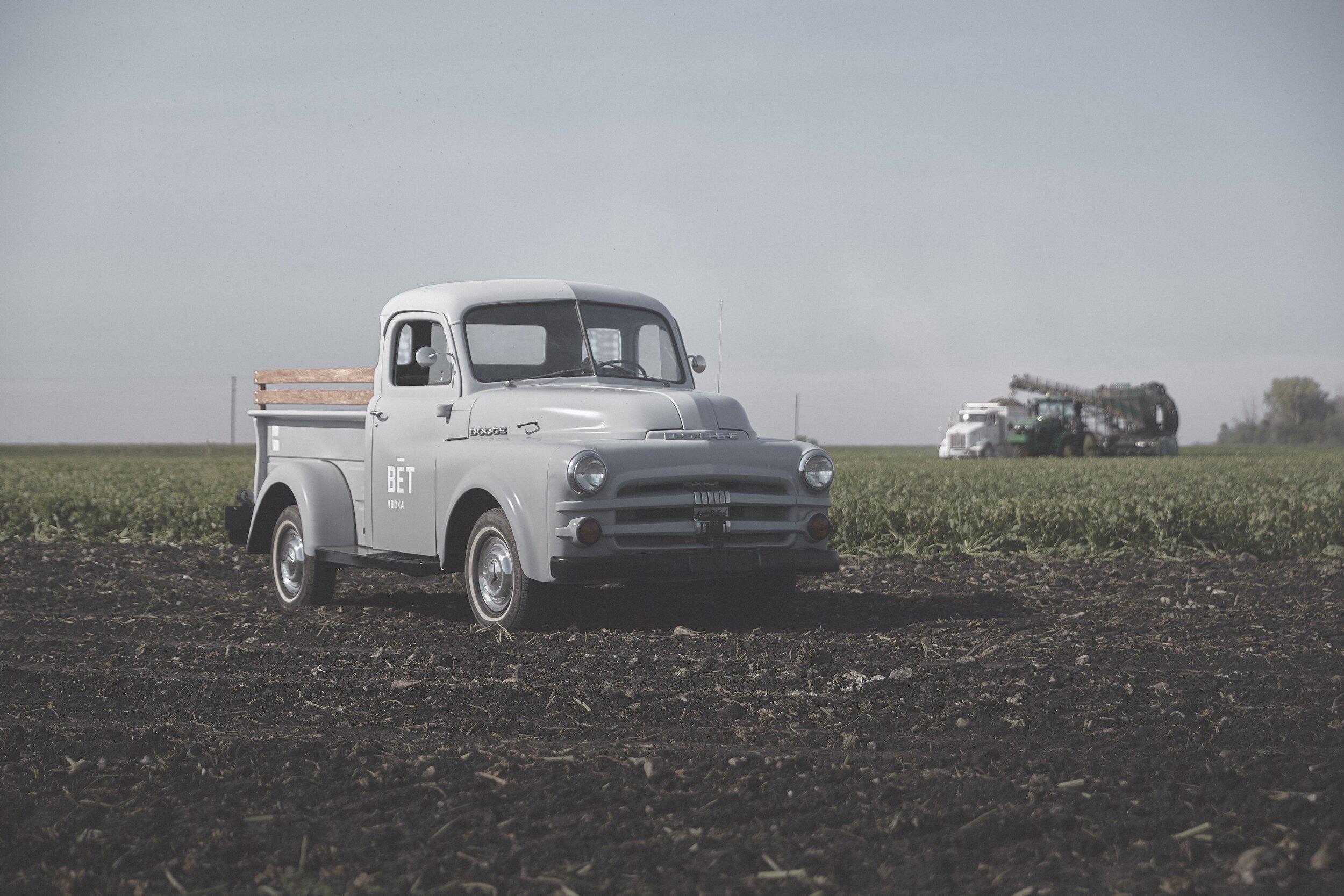 Meet Henry! BĒT Vodka's travel companion- a 1951 Dodge farm truck, named after American sugar beet connoisseur Henry Oxnard.