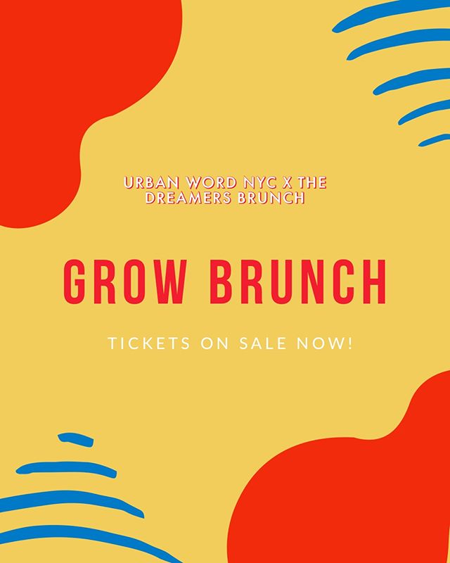 Did you buy your tickets yet??⠀⠀⠀⠀⠀⠀⠀⠀⠀ ⠀⠀⠀⠀⠀⠀⠀⠀⠀ Join us as we turn our favorite communal gathering into a fundraiser for youth literacy, servicing NYC teens alongside @urbanwordnyc. Share stories, bottomless drinks, brunch eats, a live DJ, breakout performances, silent auctions, and more.⠀⠀⠀⠀⠀⠀⠀⠀⠀ ⠀⠀⠀⠀⠀⠀⠀⠀⠀ Grow Brunch is a fundraiser, welcoming @mobrowne as the new interim Exec. Director of Urban Word NYC and celebrating the community formed when women and small business owners come together! After Mahogany attended a Dreamers Brunch event in Hell's Kitchen, NYC, she was inspired by the joy and inspiration that unfolded from the event. Grow Brunch is Browne's first event in her new role at UW and is interested in highlighting the power and promise of the social practice produced through meaningful collaborations.⠀⠀⠀⠀⠀⠀⠀⠀⠀ ⠀⠀⠀⠀⠀⠀⠀⠀⠀ Link in the bio!