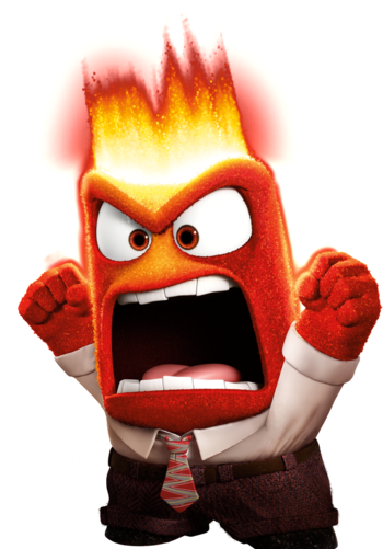 One of the amazing characters from the movie  Inside Out.  If you haven't, go watch it. The only thing we were disappointed about it was that it didn't go full on with the joy-sadness coupling that is nostalgia. IT WAS RIGHT THERE AND THEY DIDN'T DO IT. (Said while yelling like this red guy.)