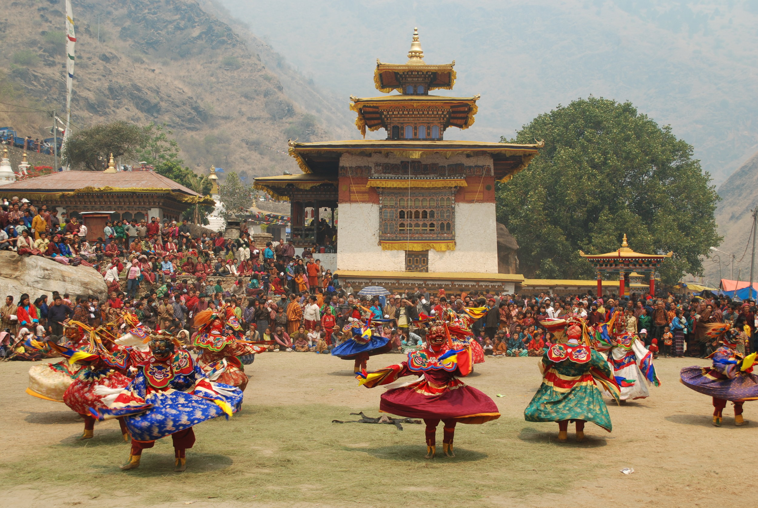 Tsechus  are one of the most popular Buddhist religious festivals in Bhutan. Different valleys and different monasteries host their own annual  Tsechu , lasting for 3-5 days