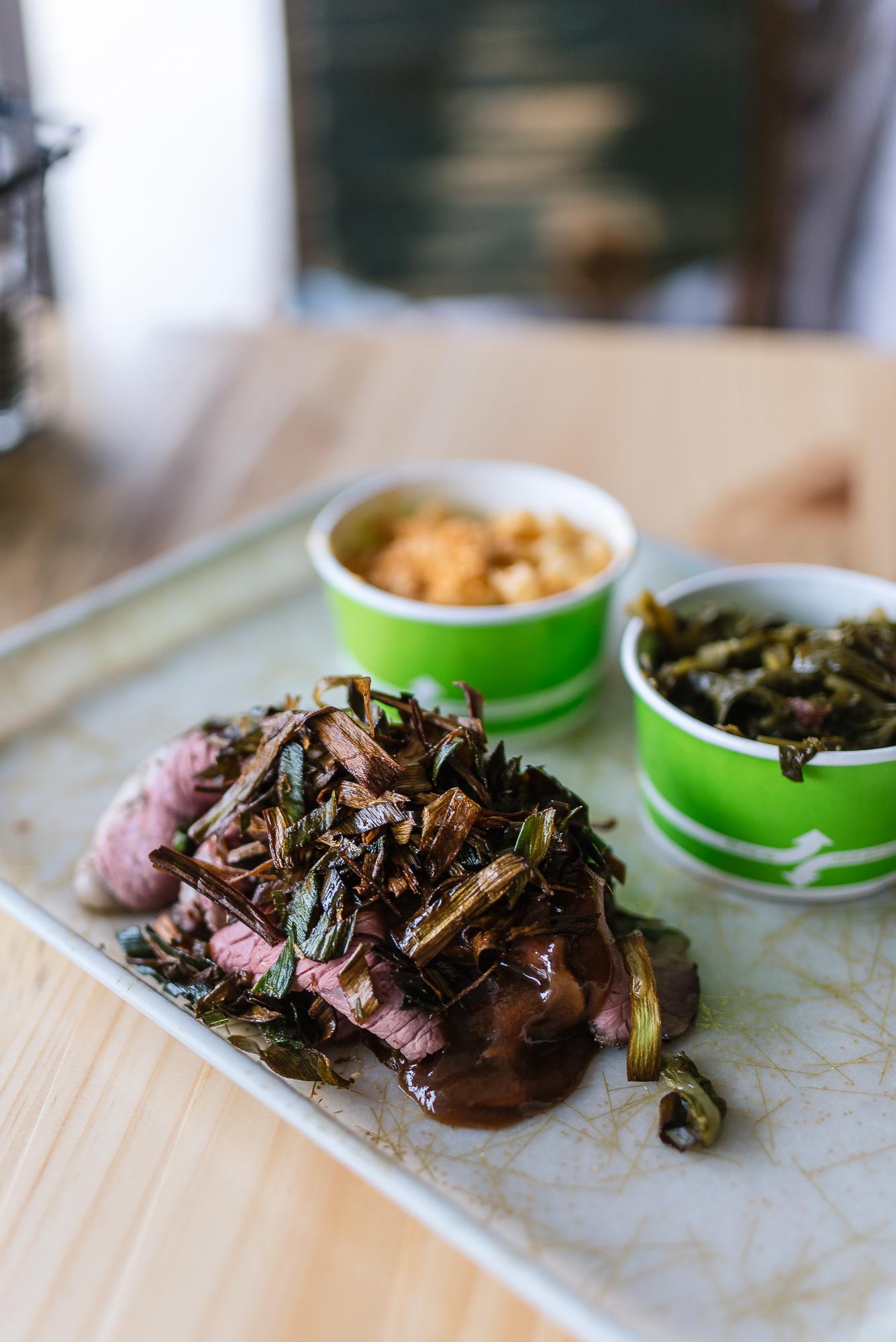 Roast beef - mushrooms, bone marrow gravy, crispy leeks