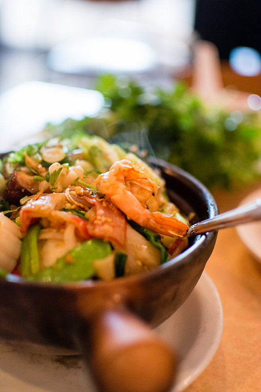 seafood charred rice Mai Lee st.louis