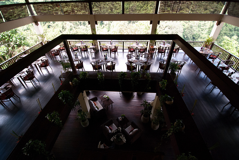 dining room Ubud Hanging Gardens bali