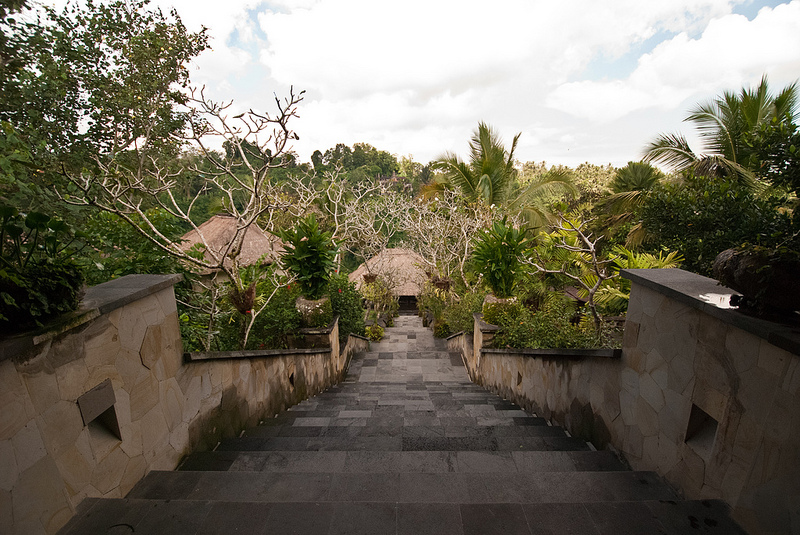 entrance Ubud Hanging Gardens Bali