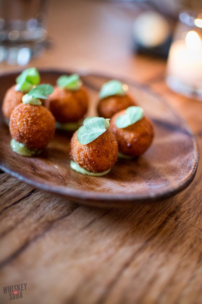 coxhina balls Niche Restaurant st.louis