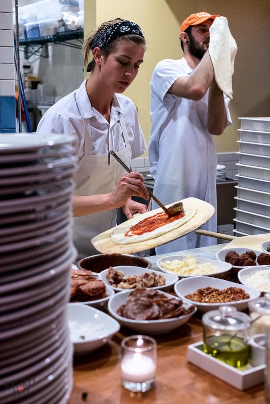 Chef Evy Dick at Pastaria