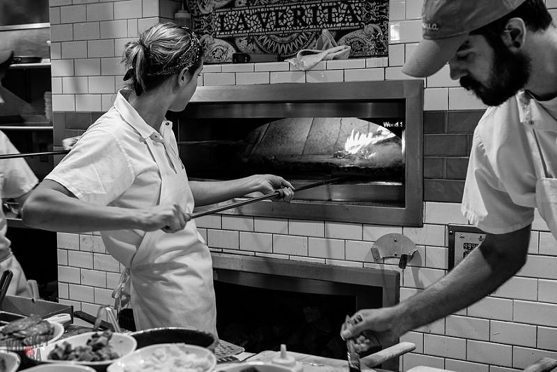 Evy Dick Baking at Pastaria