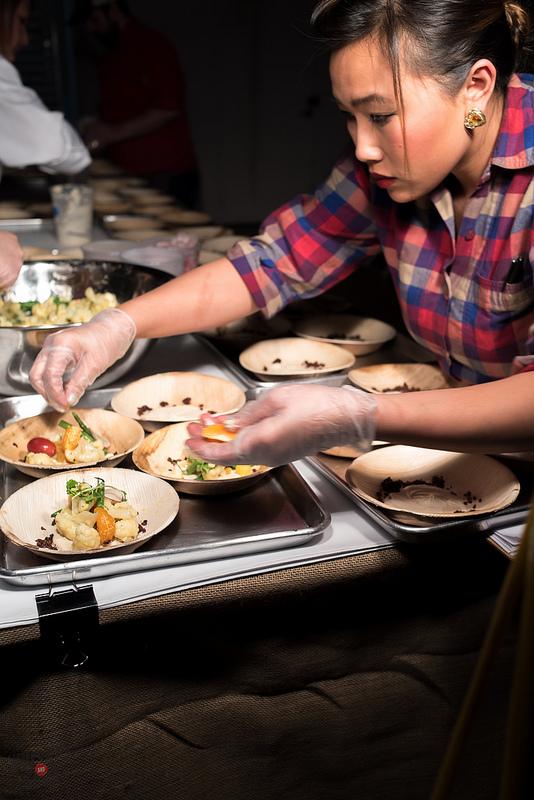 Veggie Prep at Nini Nguyen's St. Louis Dinner