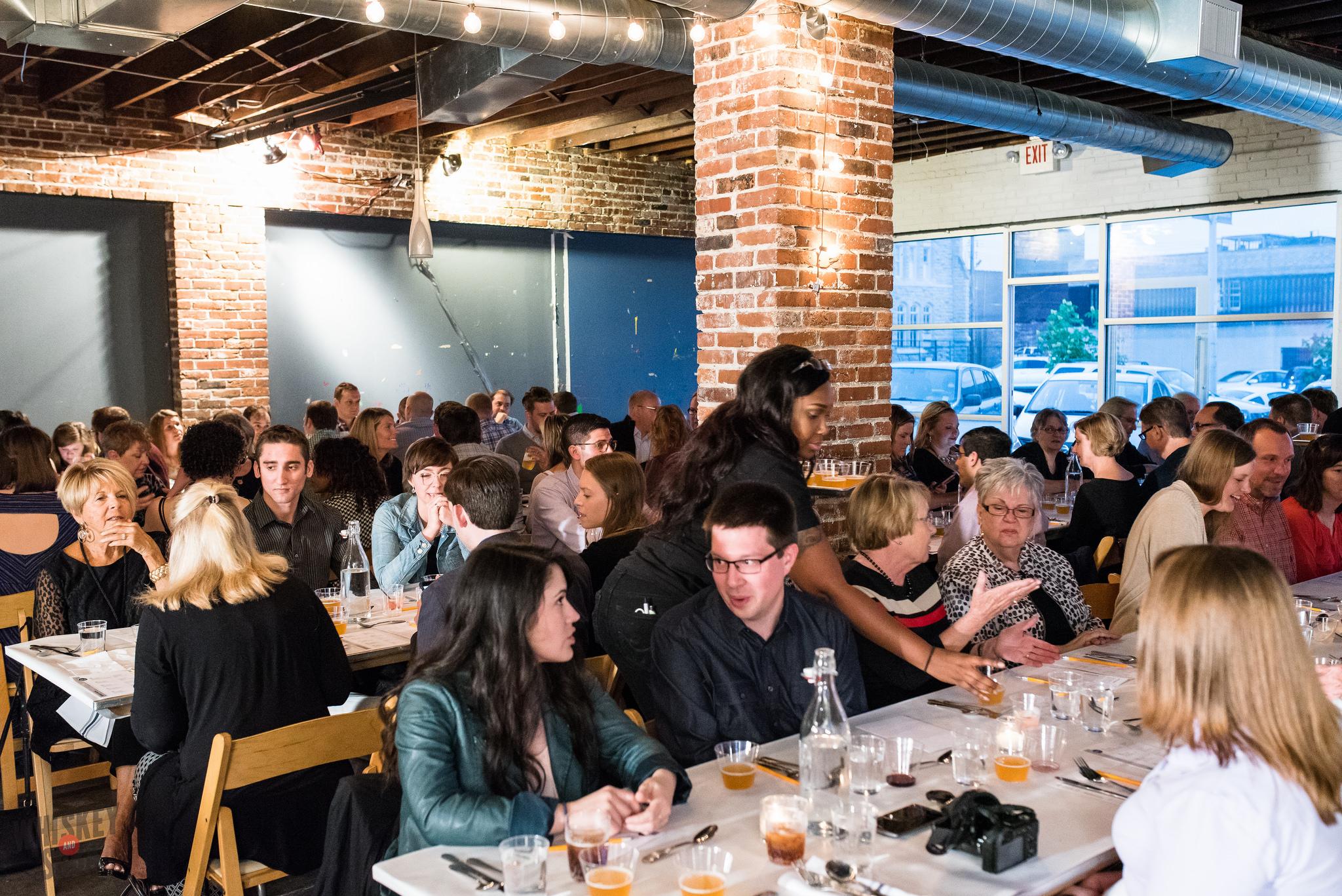 Diners at Russ Bodner's Dinner Lab
