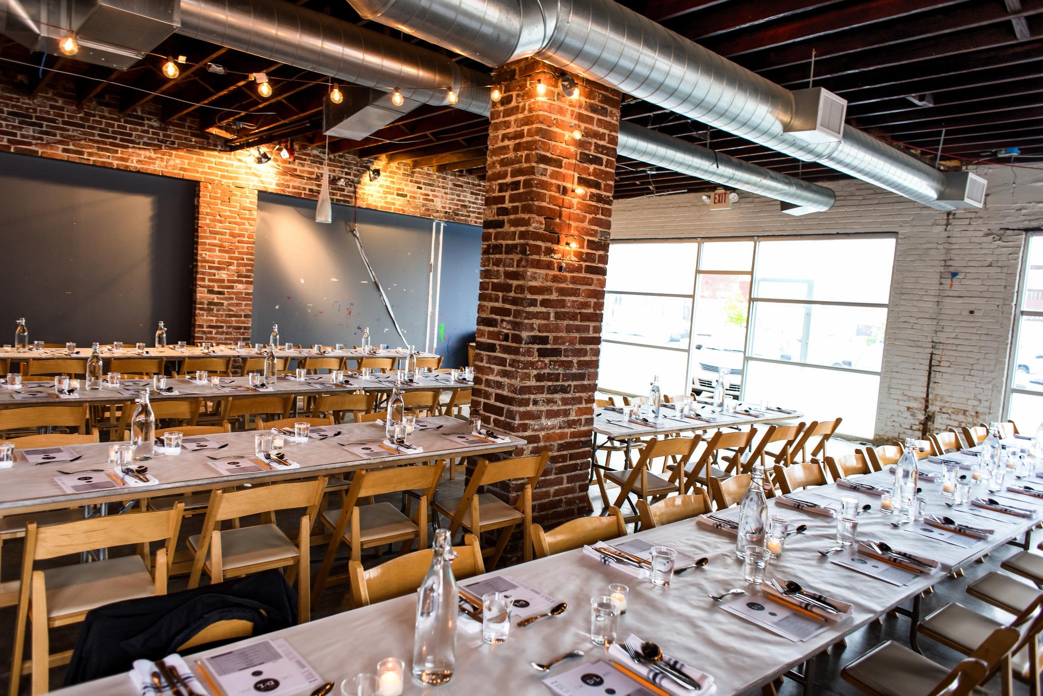 Tables at Russ Bodner's Dinner Lab