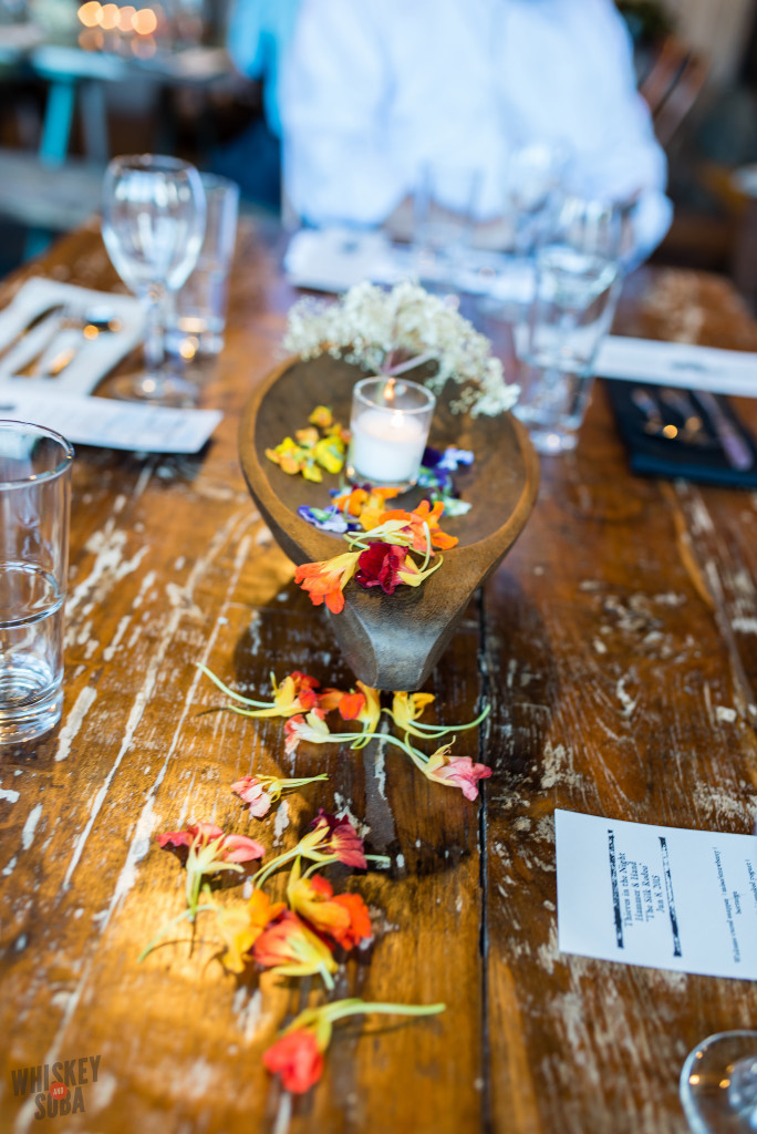Tables at Chris Bailey's Hammer & Hand Dinner