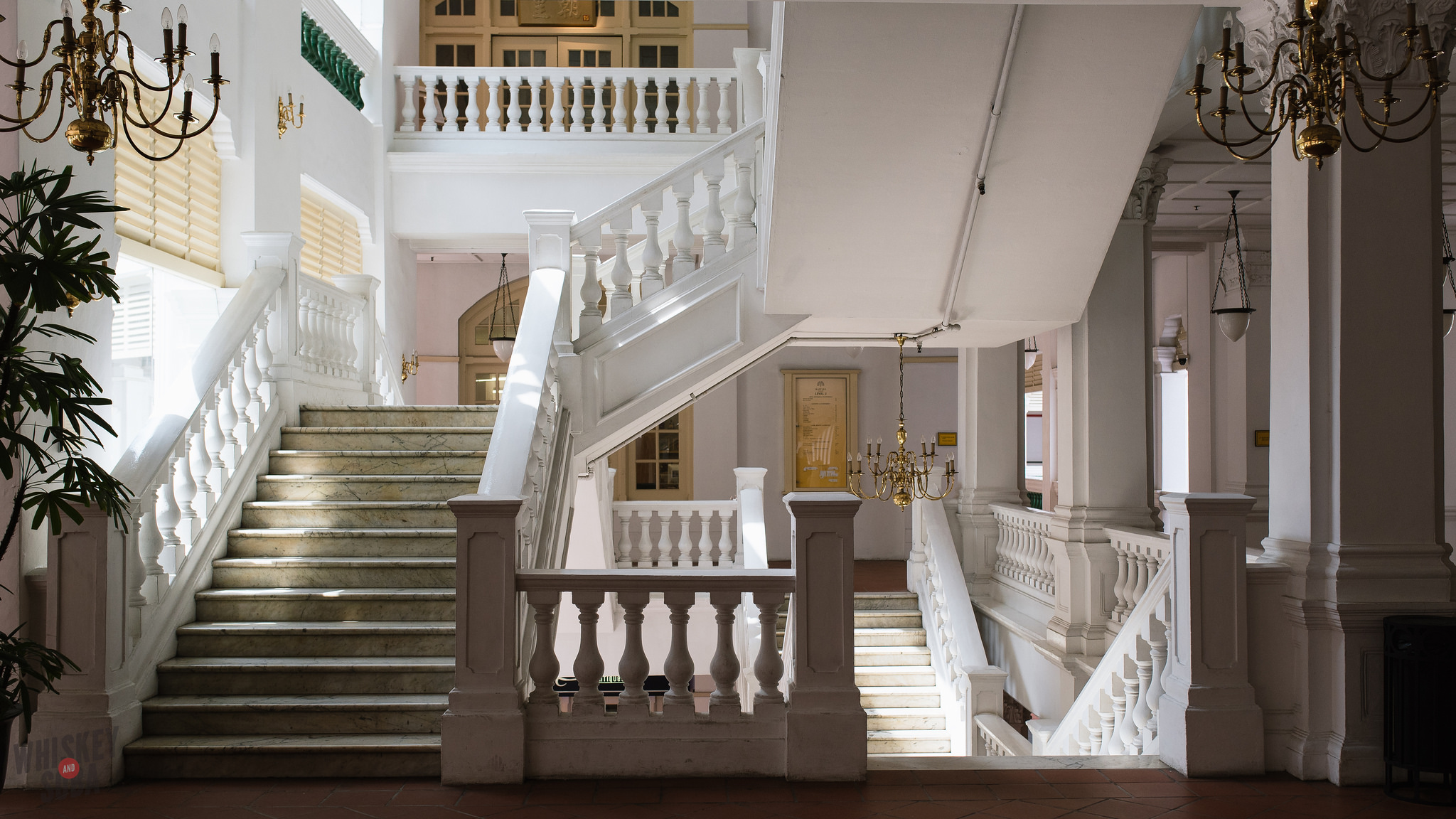Stairway at The Raffles Hotel Singapore
