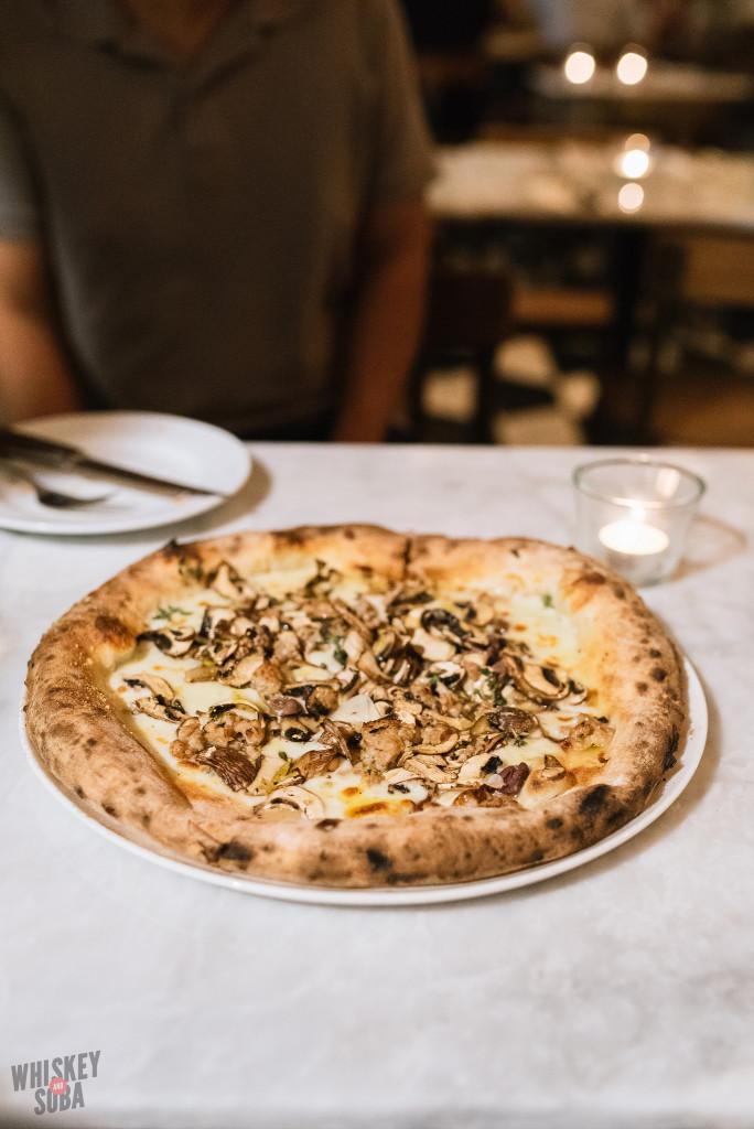 Mushroom Pizza at Motorino Singapore